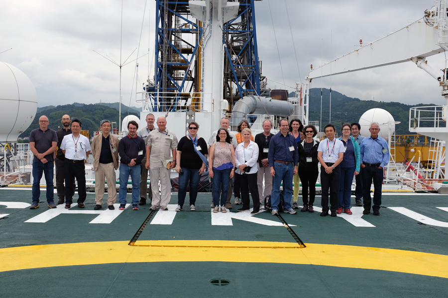 The DCO Executive Committee Tours Drilling Vessel Chikyu
