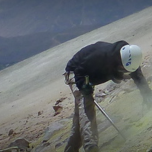 Sampling on Ticsani, Peru