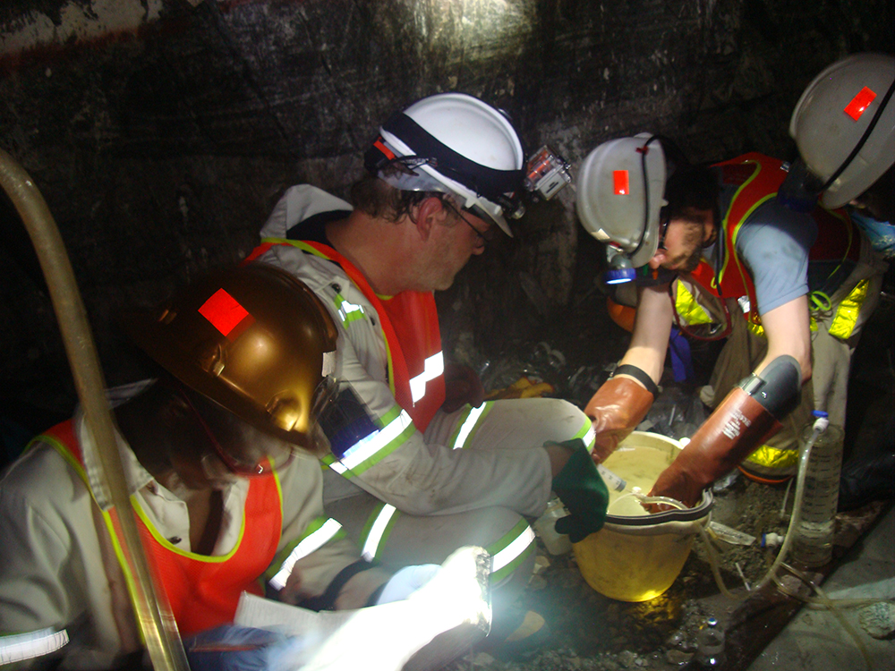 researchers in SA mine