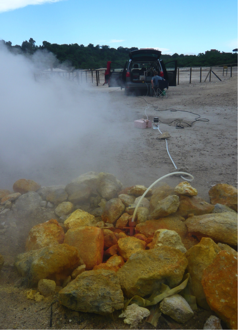 image of LIR measuring volcanic gases